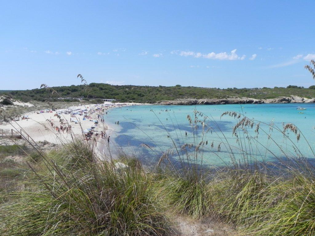 Cala Arenal Son Saura dell'isola baleare di Menorca