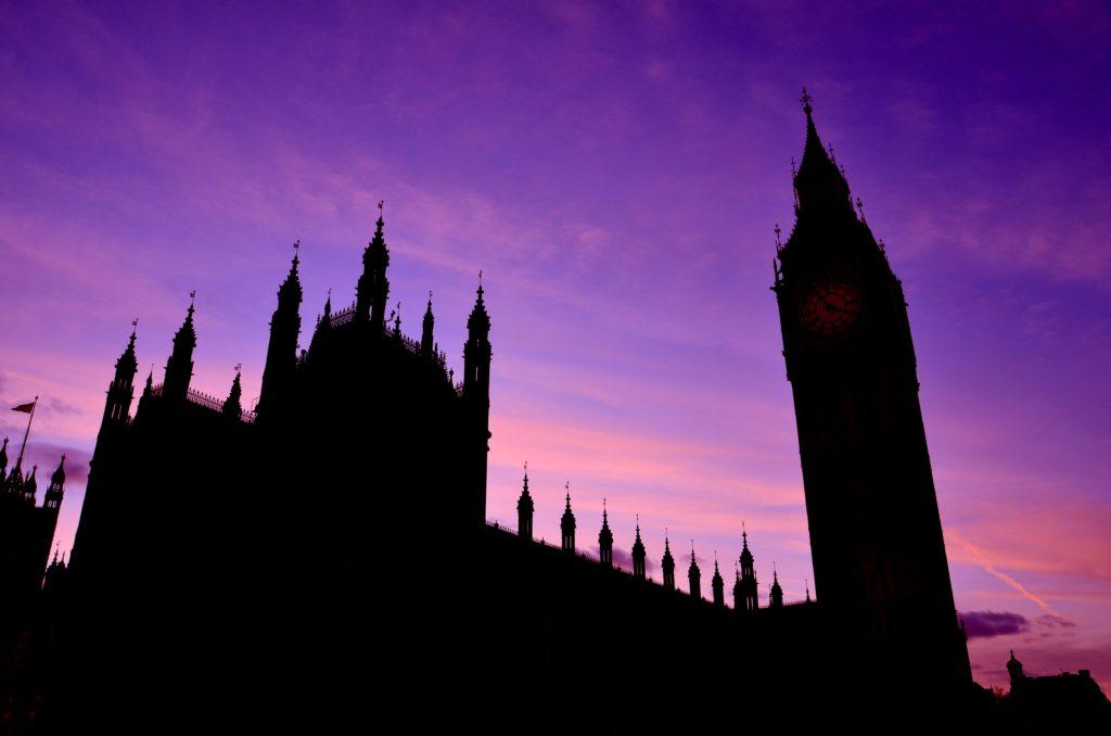 Il Palazzo de Westminster, conosciuto come Case del Parlamento