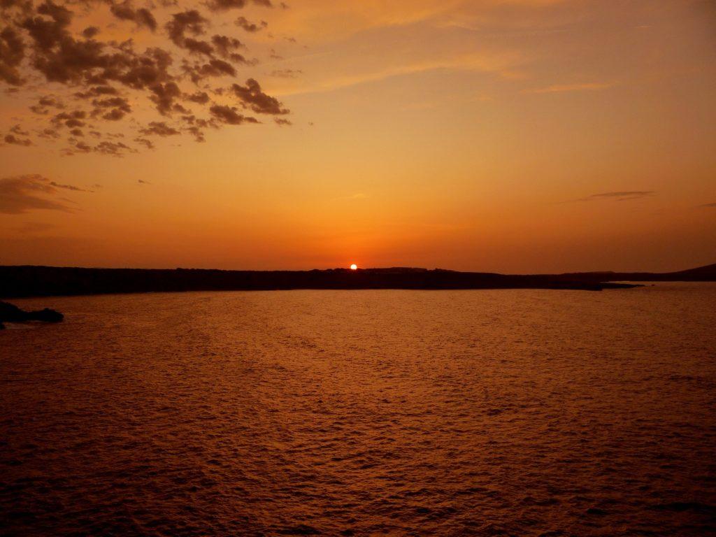 Tramonto a picco sul mare isola di Minorca
