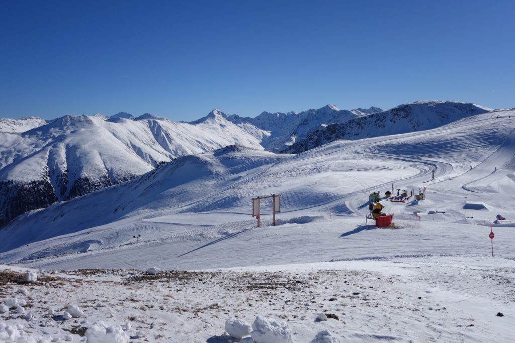 Pista innevata in Valtellina