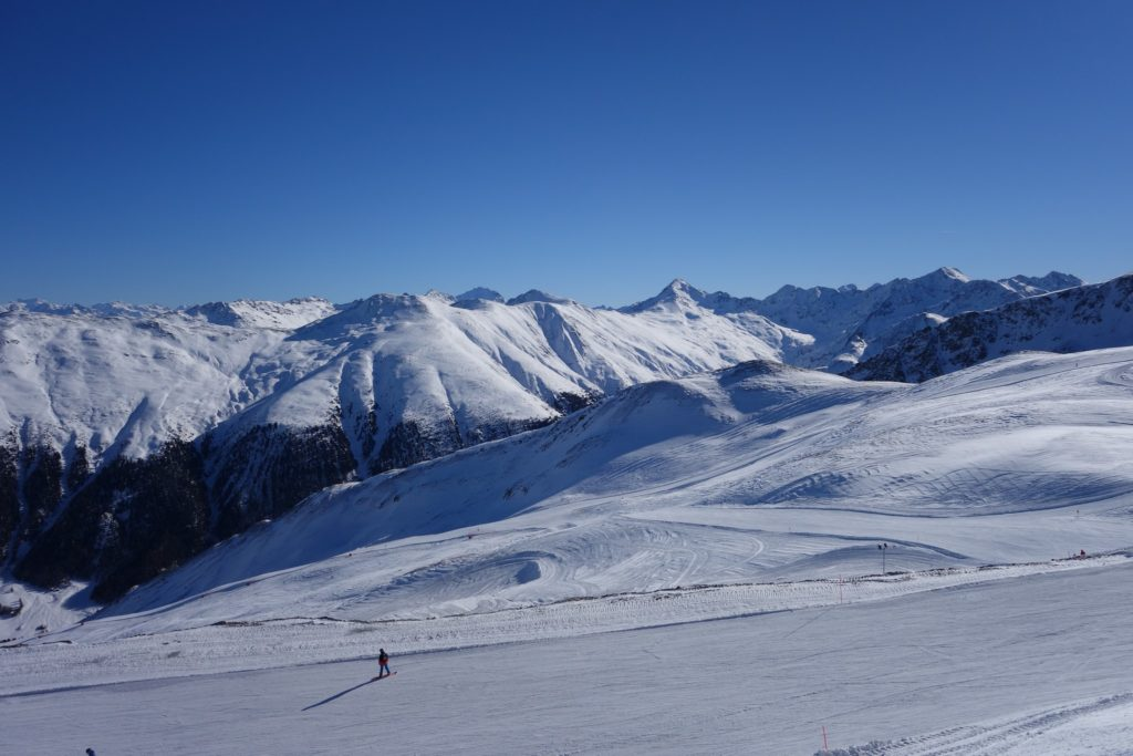 Paesaggio invernale a Livigno da Carosello 3000