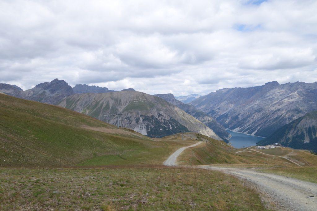 Foto del lago di Livigno ripreso dal carosello 3000