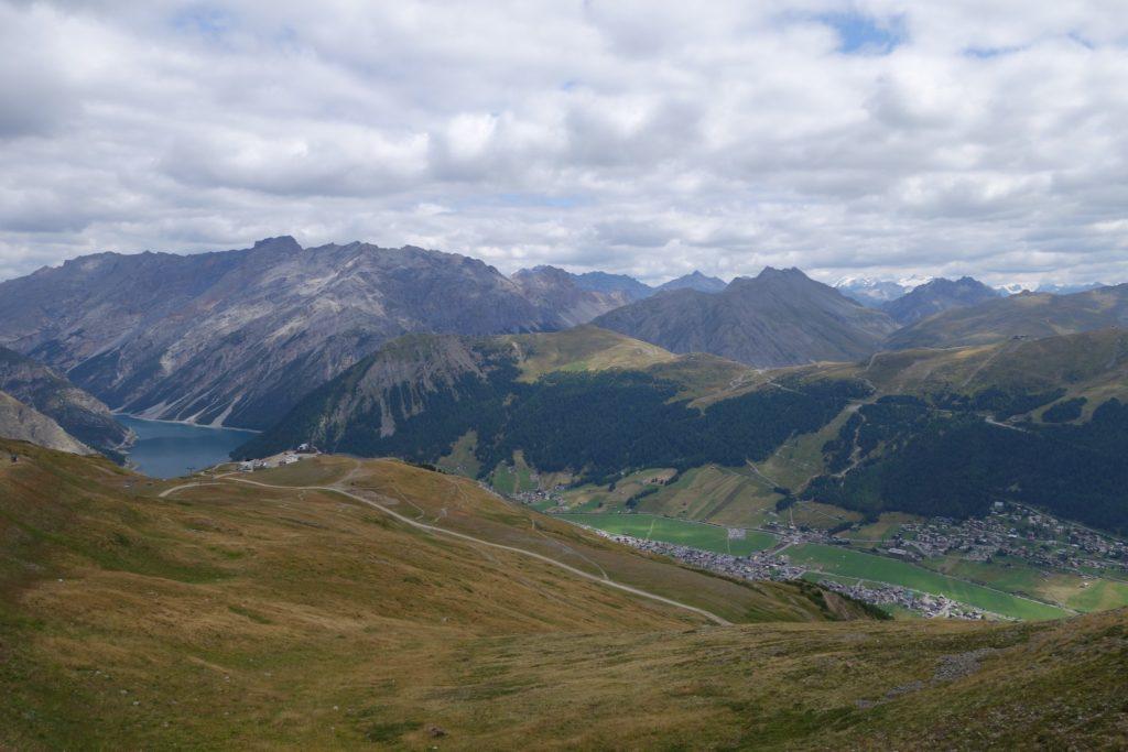 Foto panoramica di Livigno dal carosello 3000
